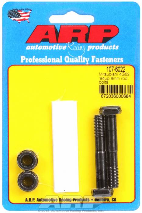ARP - ARP1076022 -ARP High Performance Rod Bolts- Mitsubishi 4G63, 1994 And Newer ,8Mm -