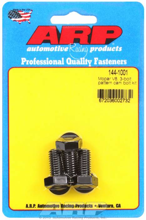 ARP - ARP1441001 - ARP Camshaft Bolts- Chrysler With 3 Bolt Cam Gear- High Performance Series