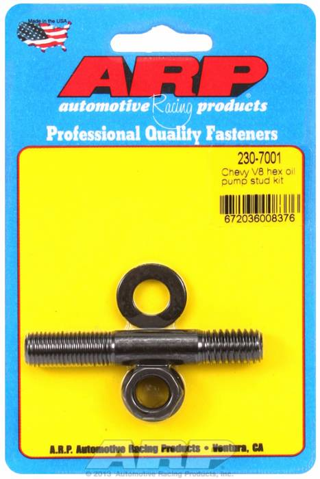 ARP - ARP2307001 - ARP Oil Pump Stud Kit- Small Block Chevy  - Black Oxide- 6 Point