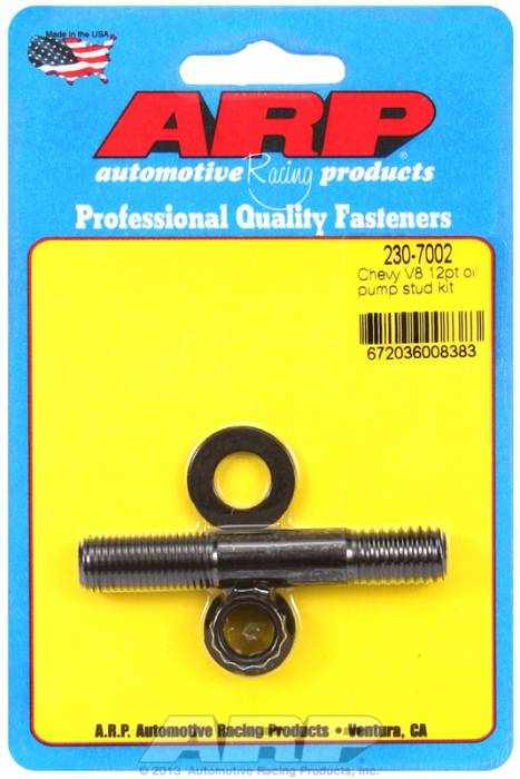 ARP - ARP2307002 - ARP Oil Pump Stud Kit- Small Block Chevy  - Black Oxide- 12 Point