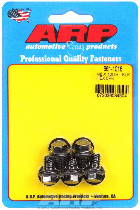 ARP - ARP6611016 - M8X1.25X12 Hex Black