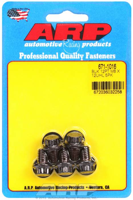 ARP - ARP6711016 - M8X1.25X12 12Pt Blac