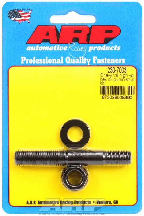 "ARP - ARP 230-7003 - ARP Oil Pump Stud Kit- Big Block Chevy & Small Block With Big Block Pump (3.125"")  - Black Oxide- 6 Point"