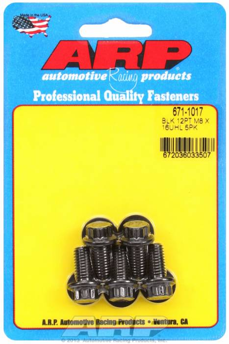 ARP - ARP6711017 - M8X1.25X16 12PT BLAC