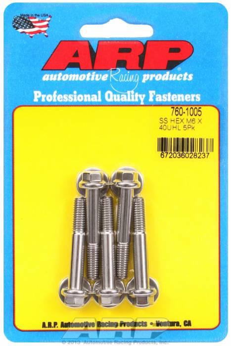 ARP - ARP7601005 - M6 X 1.0 X 40 HEX SS