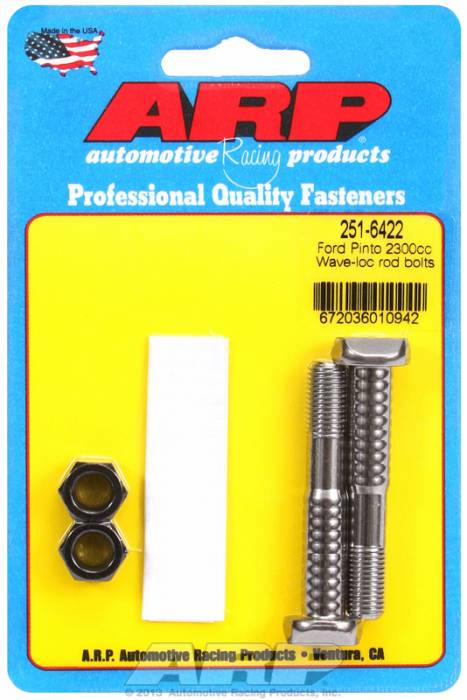 ARP - ARP2516422 -ARP High Performance Pro Wave-Loc Rod Bolts- Ford 2300 Pinto-  2 Pieces