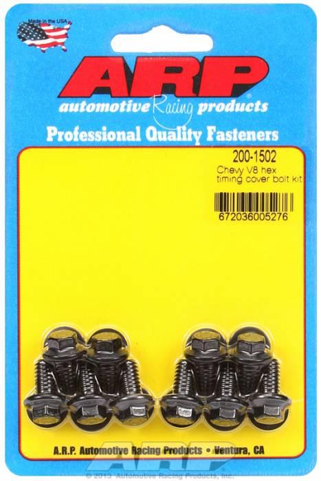 ARP - ARP2001502 -  ARP Timing Cover Bolt Kit- Chevy V8's -Black Oxide- 6 Point Head