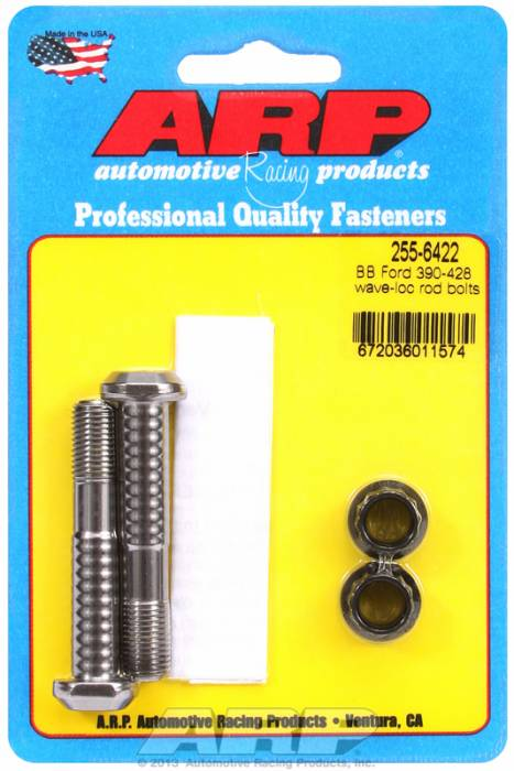 "ARP - ARP2556422 - ARP High Performance Pro Wave-Loc Rod Bolts- Ford 390,428  ""Fe"" Block 13/32"" Bolt-  2 Pieces"
