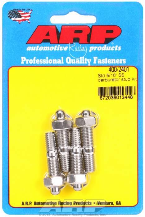 "ARP - ARP4002401 - ARP Carburetor Stud Kit- 5/16""-18 X 1.70"" - Stainless Steel- 6 Point Nuts"