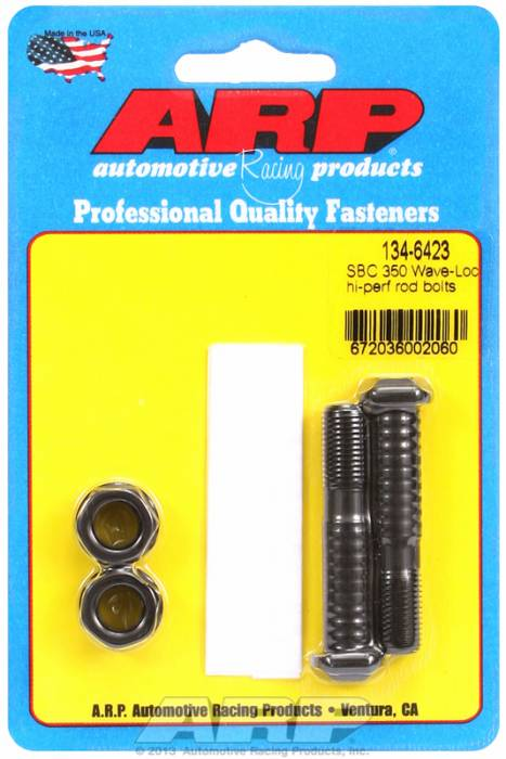 ARP - ARP1346423 - ARP-Rod Bolts-High Performance Wave-Loc -Chevy 305-307-(327-350 Large Journal) & 62'-65' -409 -2 Pieces