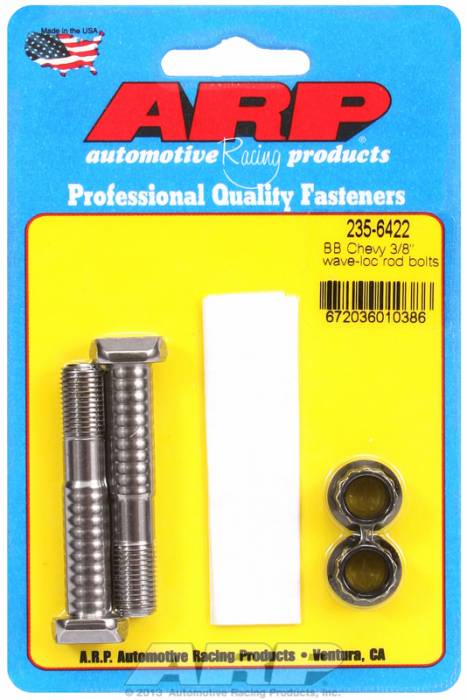 "ARP - ARP2356422 - ARP-Rod Bolts-High Performance Pro Wave-Loc-Chevy Big Block- 396 & 454 - 3/8""- 2 Pieces"