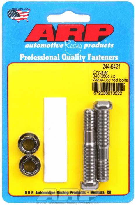 ARP - ARP2446421 - ARP-Rod Bolts-High Performance Pro Wave-Loc-Chrysler Small Block- 318-340-360- 2 Pieces