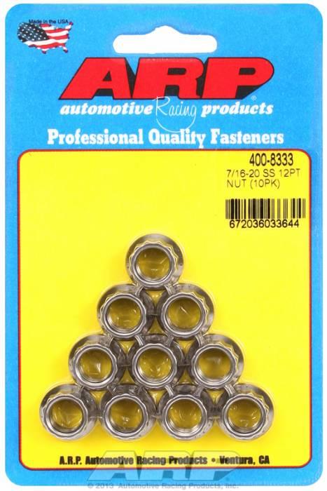"""ARP - ARP4008333 - """"7/16""""""""20 SS 12PT NUT"""""""