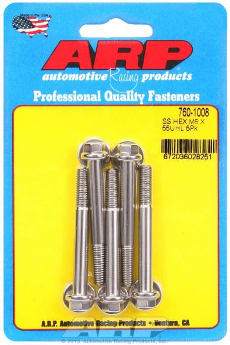 ARP - ARP7601008 - M6 X 1.00 X55 Hex Ss