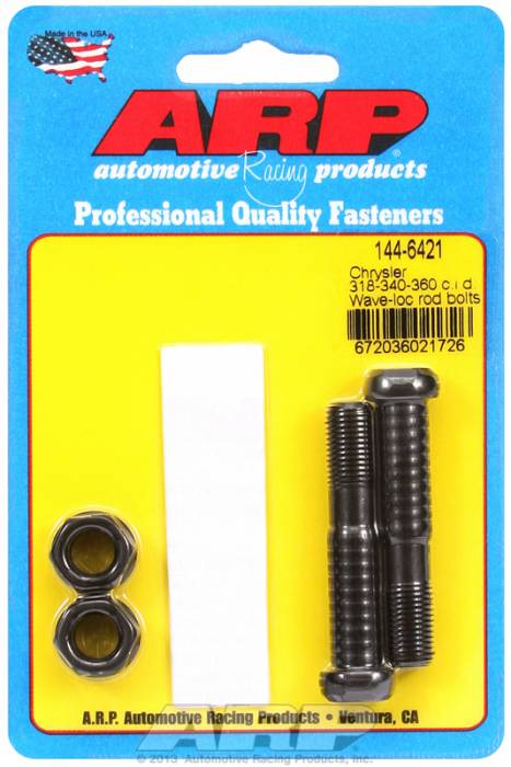 ARP - ARP1446421 - ARP-Rod Bolts-High Performance Wave-Loc-Chrysler Small Block- 318-340-360- 2 Pieces