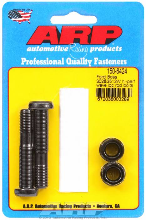 ARP - ARP1506424 - ARP High Performance Wave-Loc Rod Bolts- Ford Boss 302 & 351W-  2 Pieces