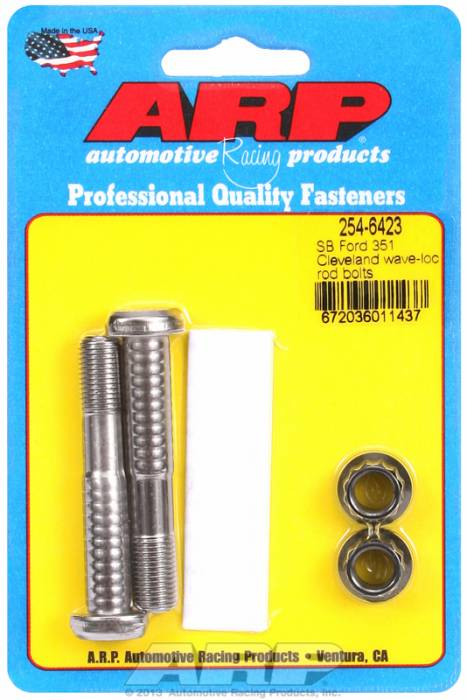"ARP - ARP2546423 - ARP High Performance Pro Wave-Loc Rod Bolts- Ford 289,302- Standard 5/16""- 2 Pieces"