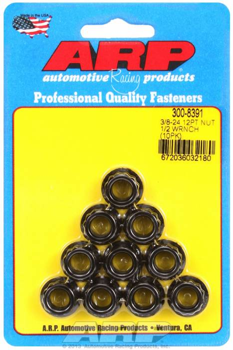 ARP - ARP3008391 - 3/8-24 12PT NUT KIT