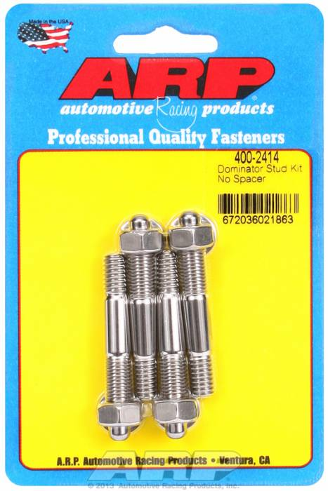 ARP - ARP4002414 - ARP Stud Kit For Holley Dominator, Stainless Steel