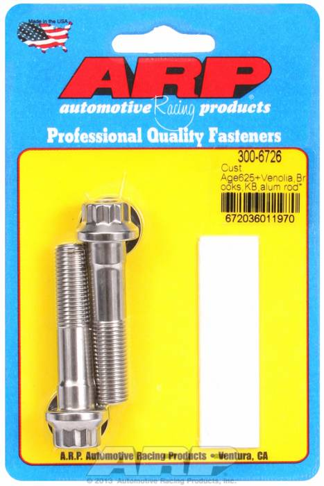 ARP - ARP3006726 - Cust Age625+ Venolia,Brooks,KB,alum rod bolts
