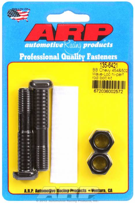 "ARP - ARP1356421 - ARP-Rod Bolts-High Performance Wave-Loc-Chevy Big Block- 454 & 502-7/16""-2 Pieces"