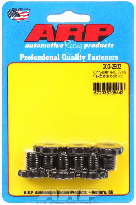 ARP - ARP2002903 - ARP Flexplate Bolt Kit - Chrysler 440 Engine - 7/16-20 X .500