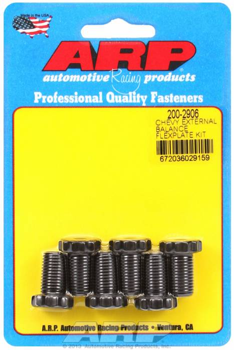 "ARP - ARP2002906 - ARP Flexplate Bolt Kit Small Block Chevy 1 Piece Rear Main Seal  - 7/16""-20 X .725 - 5/8"" Socket"