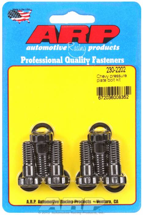 "ARP - ARP2302202 - ARP Pressure Plate Bolt Kit- Pro Series- Chevy- 3/8""-16, 9/16"" Wrench Size"