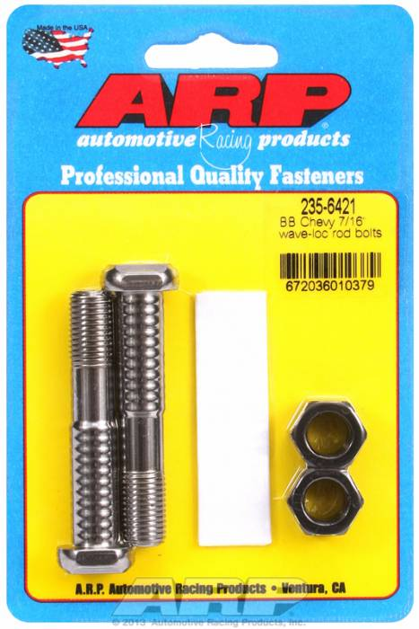 "ARP - ARP2356421 - ARP-Rod Bolts-High Performance Pro Wave-Loc-Chevy Big Block- 454 & 502-7/16""-2 Pieces"