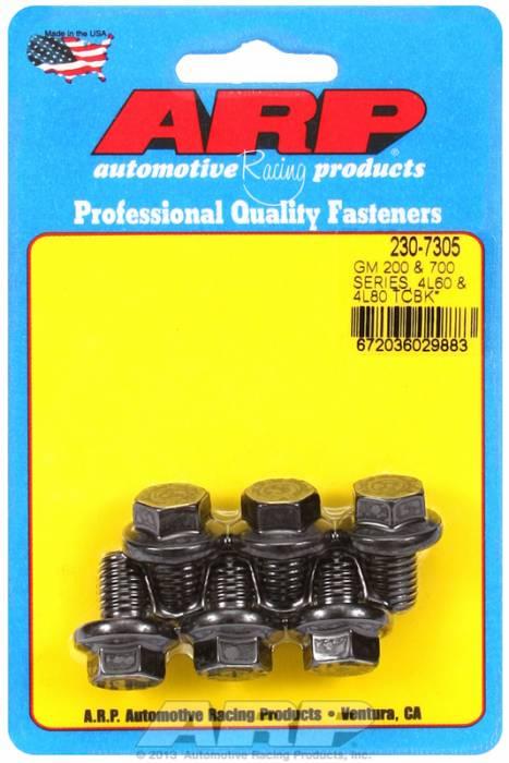 "ARP - ARP2307305 - ARP Pro Series Torque Converter Bolt Set - Chevy / GM 4L80E / 4L85E 6 Bolt Truck Set - M10 X 1.5 X .590"""