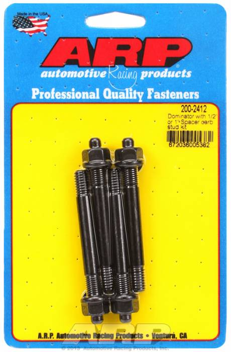 """ARP - ARP2002412 - ARP Stud Kit For Holley Dominator With 1/2"""" Or 1"""" Spacer."""