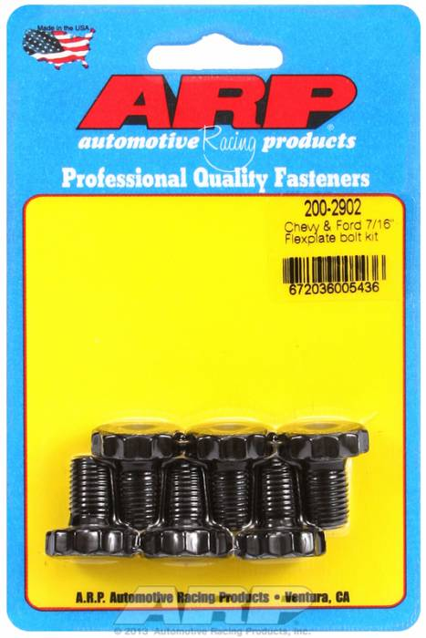 "ARP - ARP2002902 - ARP  Automatic Transmission Flexplate Bolt Kit- Pro Series -Chevy &  Ford Engines- 7/16""-20 X .680"", 3/4"" Socket- Note For Old Style Engines With 2 piece Rear Main Seal Only"