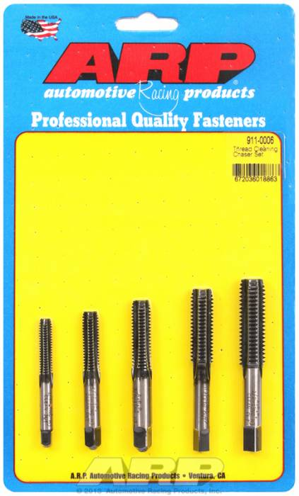 "ARP - ARP9110006 - ARP Thread Cleaning Chaser Tap Set - 5 Piece Kit - 1/4"", 5/16"", 3/8"", 7/16"", 1/2"" Coarse Thread"
