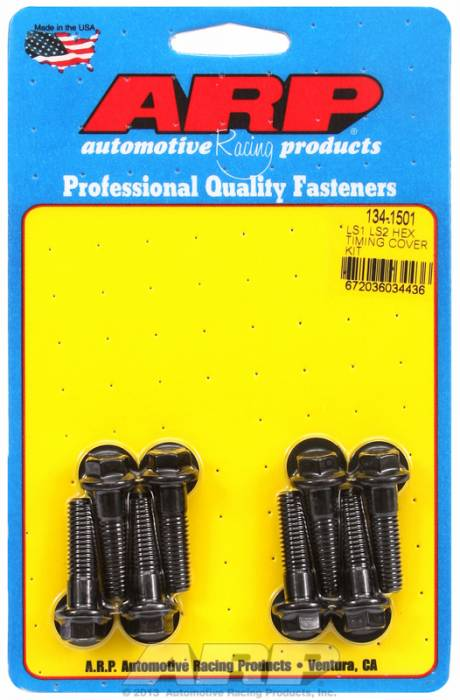 ARP - ARP1341501 - ARP Timing Cover Bolt Kit, Gen III/IV LS Series, Black Oxide, Hex Head