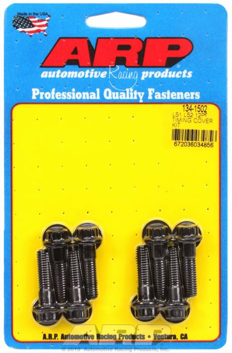 ARP - ARP1341502 - ARP Timing Cover Bolt Kit, Gen III/IV LS Series, Black Oxide, 12 Point Head