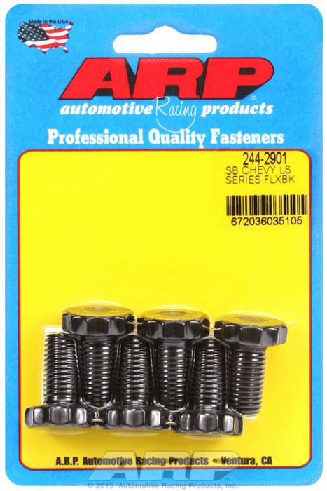 ARP - ARP2442901 - Flexplate Bolt Kit, Chevrolet Gen II/LS Series Small Block, 6 pieces