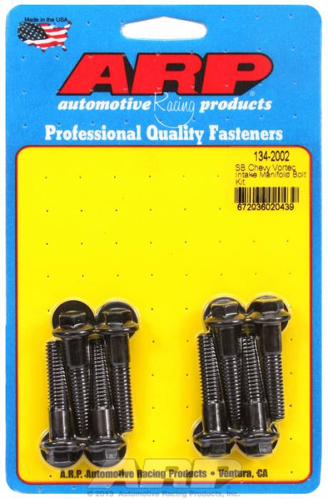 ARP - ARP1342002 - ARP Intake Manifold Bolt Kit- Chevy Small Block-Vortec Heads- Black Oxide- 6 Point Head