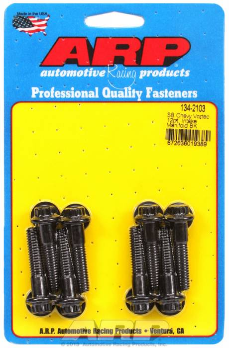 ARP - ARP1342103 - ARP Intake Manifold Bolt Kit- Chevy Small Block-Vortec Heads- Black Oxide- 12 Point Head