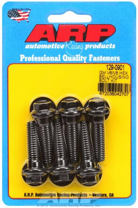 """ARP - ARP1290901 - Chevrolet V6 & V8, Bellhousing to Engine Block Bolt Kit, Black Oxide, Hex Head, 1.375"""" UHL, 3/8-16 Thread"""