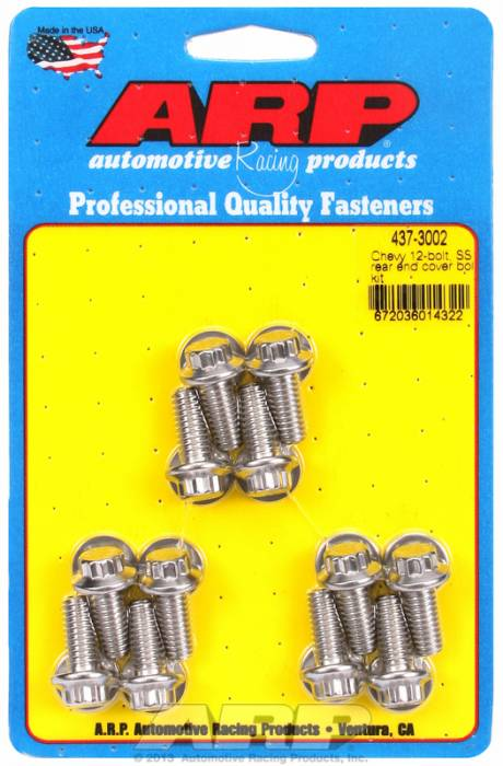 ARP - ARP4373002 - Stainless Steel Differential Cover Bolt Kit, For Gm 10 Bolt & 12 Bolt Rear Ends, Dana 44