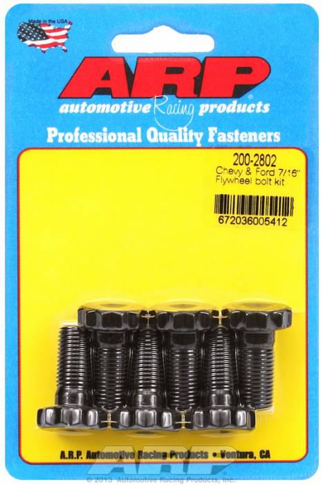 "ARP - ARP2002802 - ARP  Manual Transmission Flywheel Bolt Kit- Pro Series -Chevy &  Ford Engines- 7/16-20, 1"" UHL"