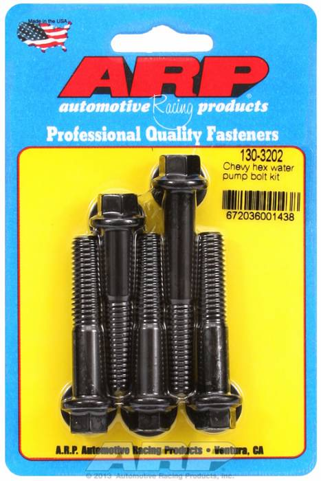 ARP - ARP130-3202 - ARP Water Pump Bolt Kit SBC/BBC, 90 Degree V6 Black Oxide 6 Point