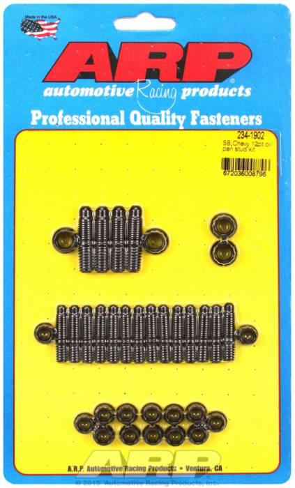 ARP - ARP2341902 - ARP Oil Pan Stud Kit- Small Block Chevy- Black Oxide- 12 Point
