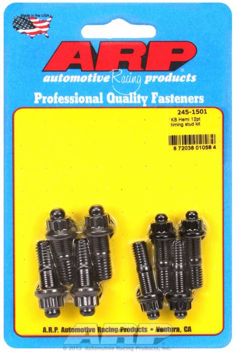 ARP - ARP2451501 - ARP Timing Cover Bolt Kit- Chrysler KB Hemi- Black Oxide- 12 Point Head