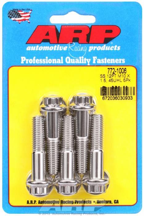 ARP - ARP7721006 - ARP Metric Thread Bolt Kit Stainless 300 M10 X 1.50 45Mm Uhl, 5 Piece