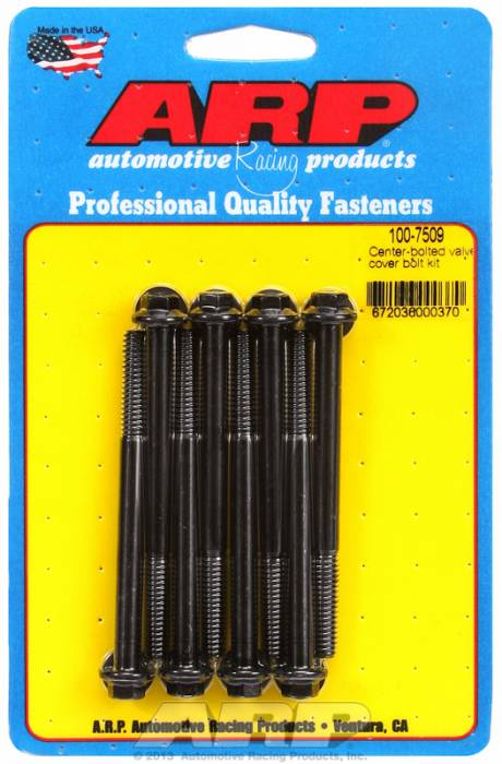 """ARP - ARP1007509 - ARP Valve Cover Bolt Kit - For Sb Chevy Centerbolt Covers- 1/4""""-20 X 3.250"""" - Black Oxide - 6 Point Head-Qty.-8"""