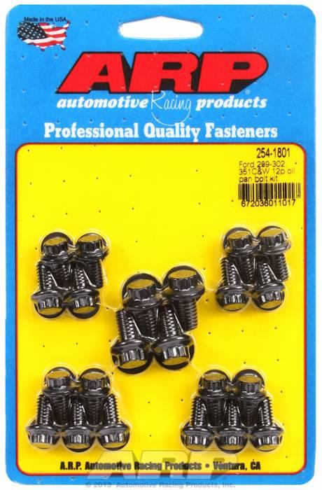 ARP - ARP2541801 - ARP Oil Pan Bolt Kit-  Ford 289-302-351C-351W- Black Oxide- 12 Point
