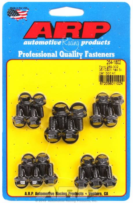 ARP - ARP2541802 -ARP Oil Pan Bolt Kit-  Ford 289-302-351C-351W- Black Oxide- 6 Point