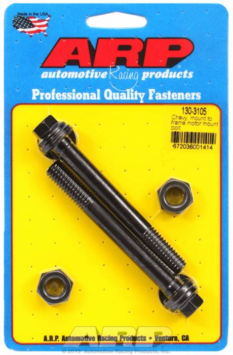 ARP - ARP 130-3105 Motor Mount Bolt Kit Chevy, Mount To Frame- Black Oxide- 6 Point Head