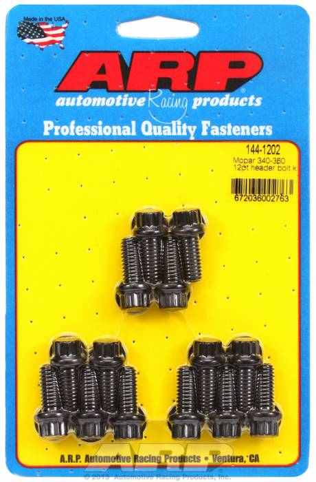 "ARP - ARP1441202 - ARP Header Bolt Kit- Chrysler - 5/16"" X .750""- Black Oxide- 12 Point Nuts-Qty.-14"